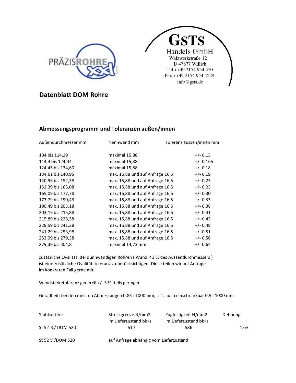 GSTS Handels GmbH DOM_Datenblatt_Apr_2016